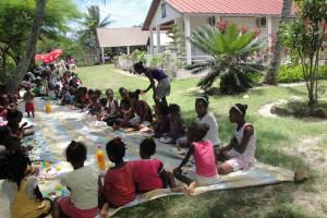 Enfants des familles aidées et de l'Akany Avotra