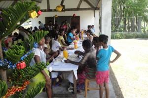 Familles aidées et quelques membres de l'Association